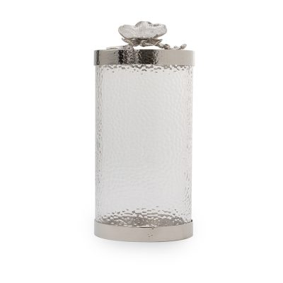 Large Nickel Plate Glass Canister