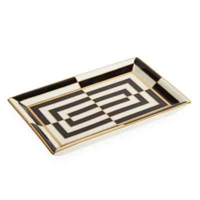 Op Art Rectangle Tray Black/white