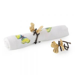 Butterfly Ginkgo Napkin Rings, Set of 4 - Carats Jewelry and Gifts