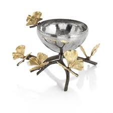 Butterfly Ginkgo Glass Nut Dish - nut dish - Carats Jewelry and Gifts
