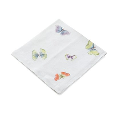 Butterfly Ginkgo Printed  Dinner Napkin Set Of 4