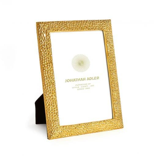 """Textured Brass Frame 4""""X6"""" - Carats Jewelry and Gifts"""