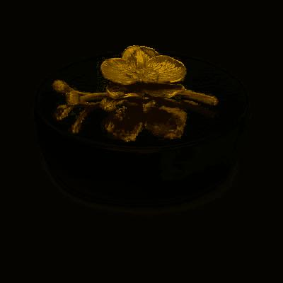 Golden Orchid Decorative Box