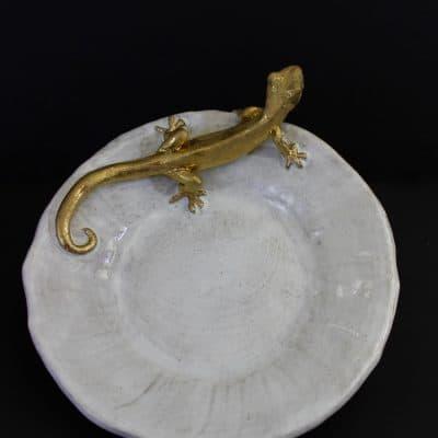 18k Gecko Plate