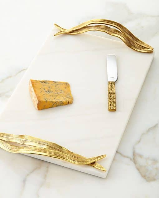 Michael Aram Palm Cheese Board with knife - Carats Jewelry and Gifts