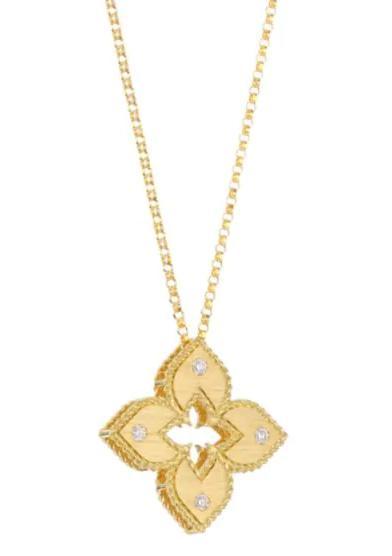 Roberto Coin Venetian Princess Satin Gold Pendant - Carats Jewelry and Gifts