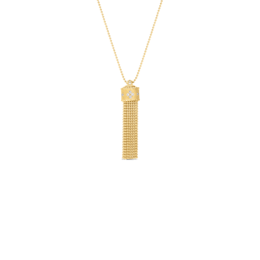 ROBERTO COIN Princess Diamond Tassel Necklace - Carats Jewelry and Gifts
