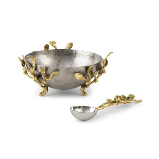 MICHAEL ARAM Mistletoe Small Dish W/Spoon - Carats Jewelry and Gifts