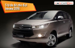 5 things you should know about Toyota Innova 2016