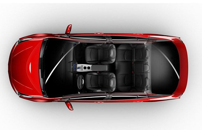 Seats in Prius 2016 Top View