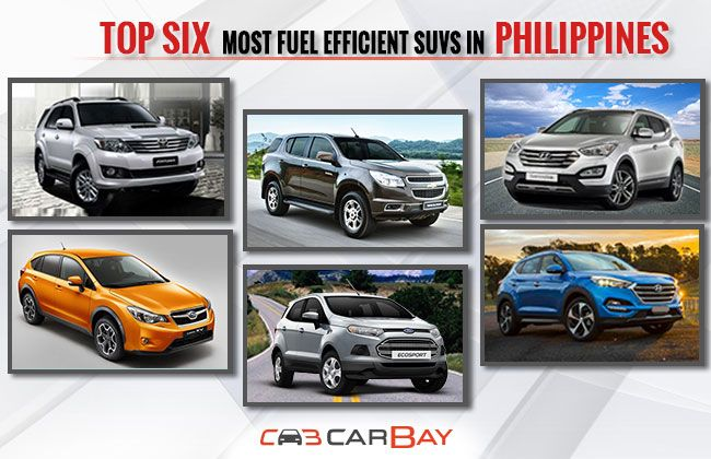top six most fuel efficient suvs in philippines carbay. Black Bedroom Furniture Sets. Home Design Ideas