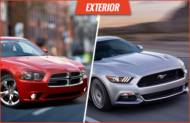 Charger VS Mustang Exterior