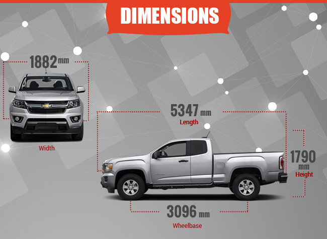 2016 Colorado Dimensions