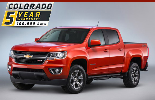 2016 Colorado warranty
