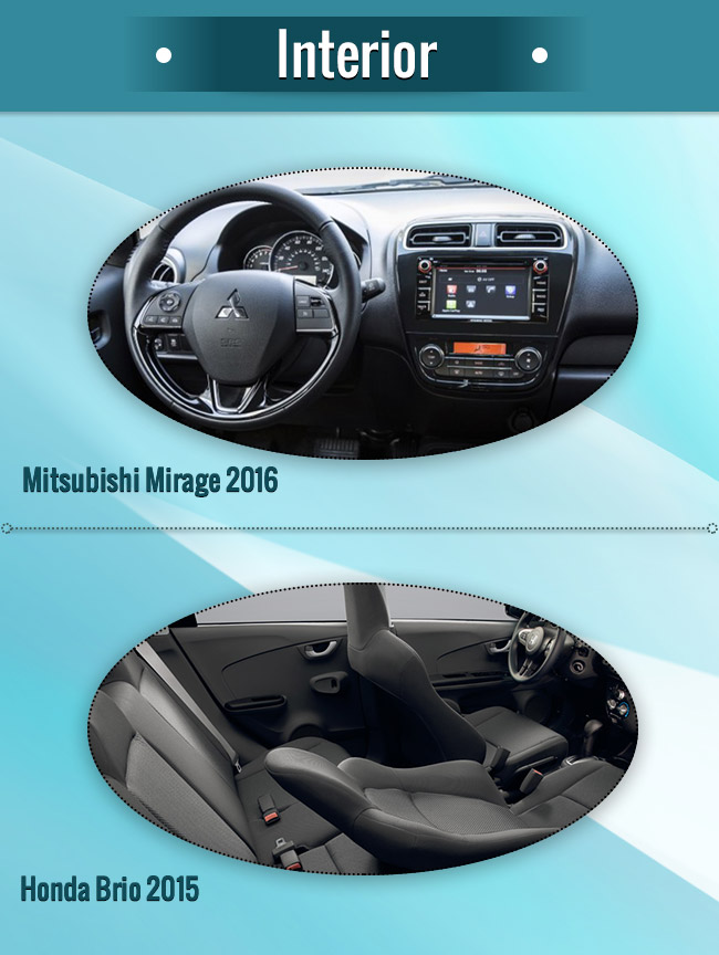 Mirage 2016 vs Brio 2015 Interior