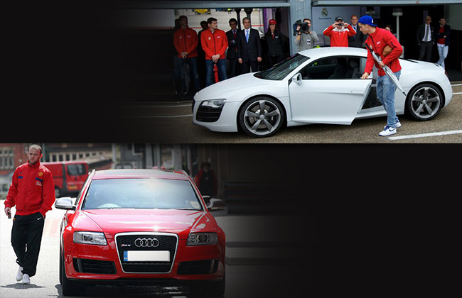 Rooney and Ronaldo with their Audi