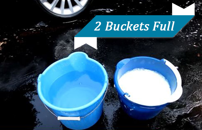 2 buckets for car wash
