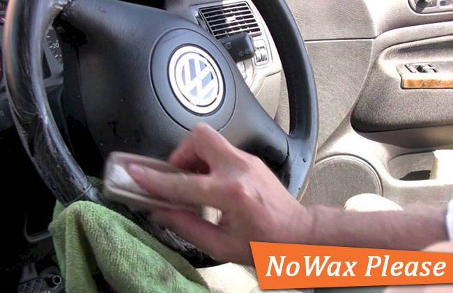 Car Wax on steering wheel