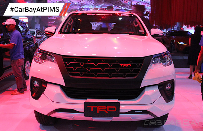 toyota fortuner trd is the eye candy at toyota s booth