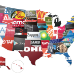 map of gift cards