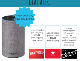 Deal Alert: Amazon Echo (2nd Generation) $71.68