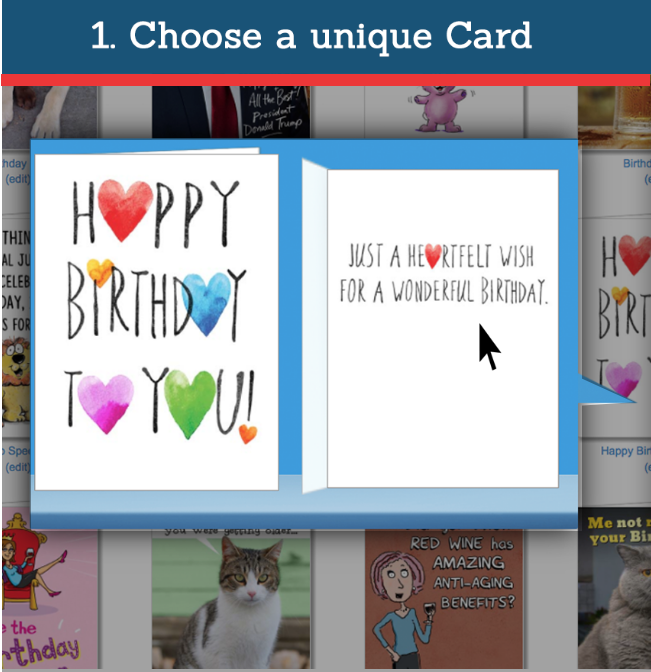 Happy birthday cards all about cardfool send personalized any card you order before 2pm cst will be printed and mailed same day m4hsunfo