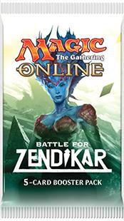 5 card Battle for Zendikar Booster