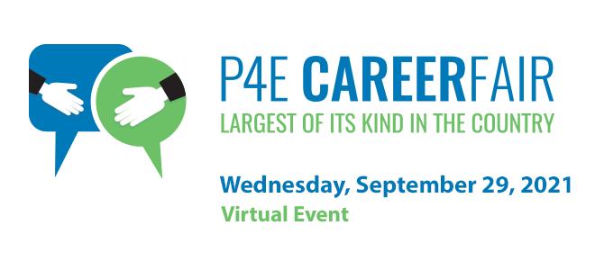 P4E Career Fair 2021 Banner