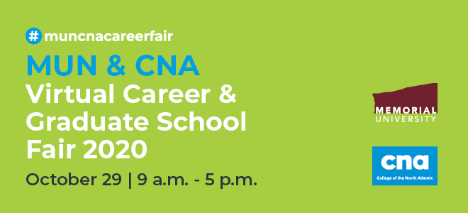 MUN & CNA Virtual Career & Graduate School Fair Banner
