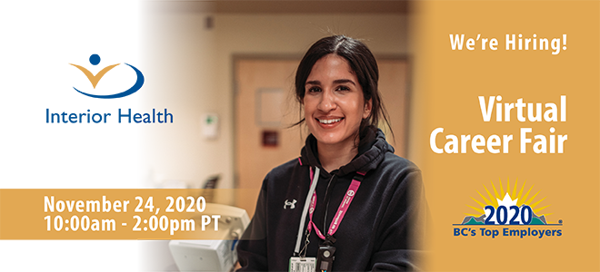 Interior Health Careers Virtual Event Banner