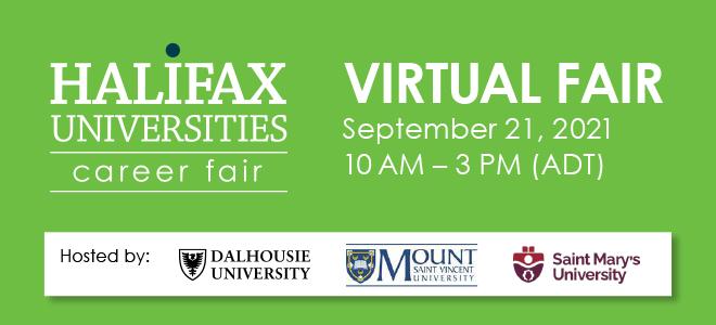 Halifax Universities Virtual Career Fair Banner
