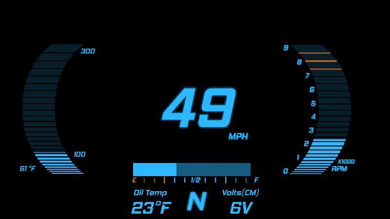 Digital Dash Blue