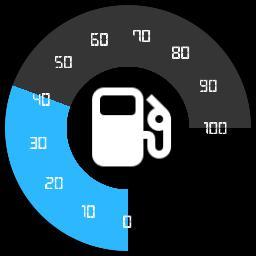 Round Blue Fuel Bar