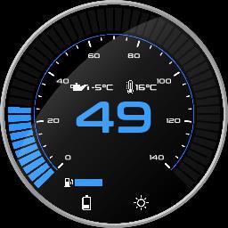 Blue digital (speed)