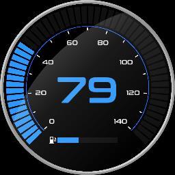 velocímetro simples 140km/h