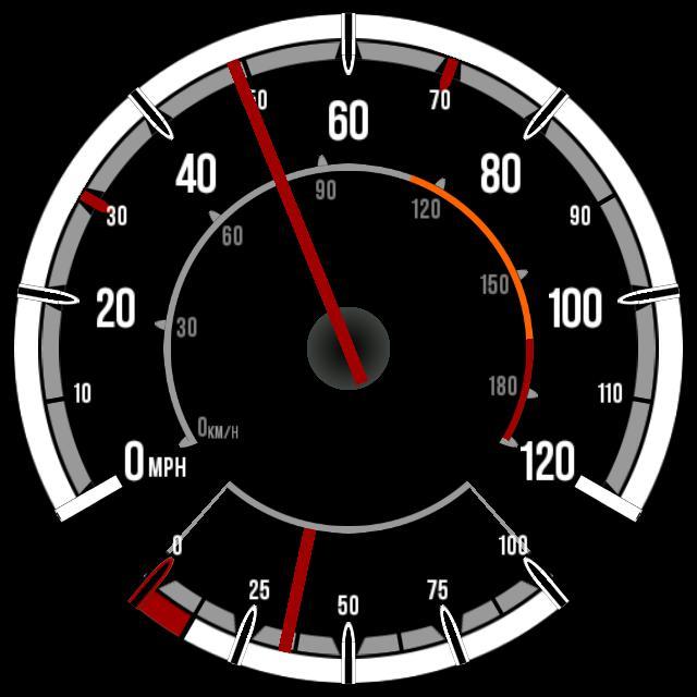 Vauxhall Corsa D Speedometer w/ Fuel Gauge (stylised)