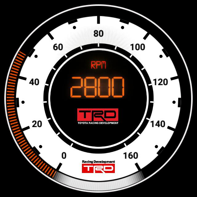 Aygo TRD KM/u + RPM gauge