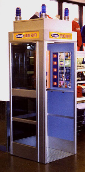 Image of phone-booth style Sound Booth