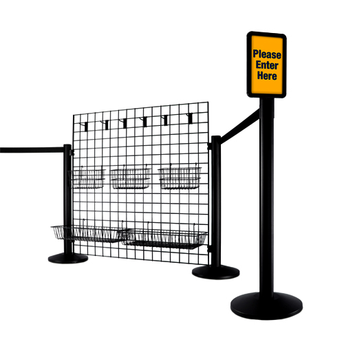 Image of wire based queue line system