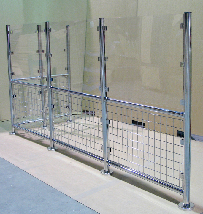 Image of custom security wall system for asset protection
