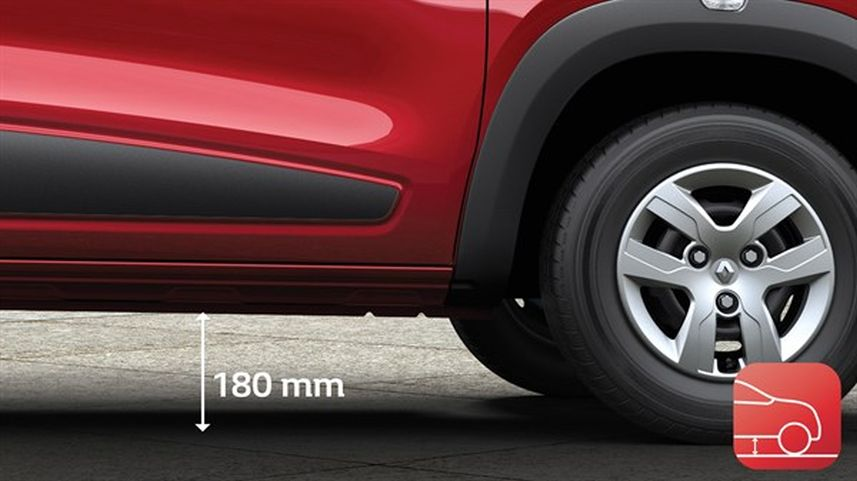Review Renault Kwid ground clearance