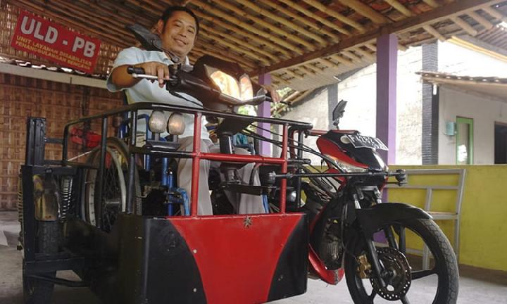 Modifikasi motor difabel, photo: Tempo