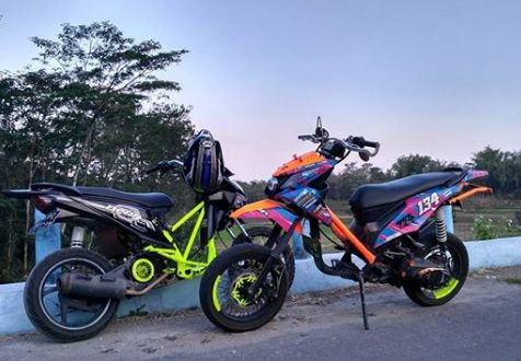 Modifikasi Honda Beat bergaya trail