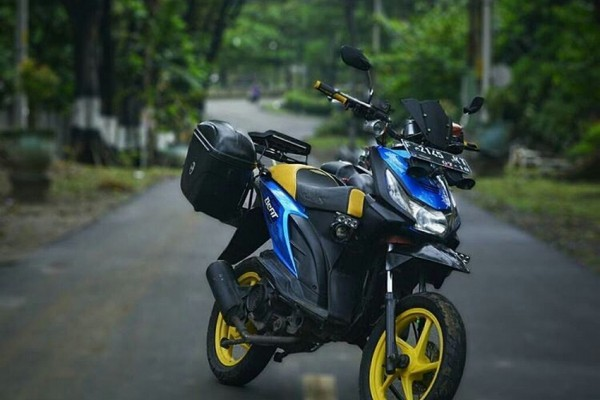 Honda BeAT bergaya touring, photo: IDNTimes
