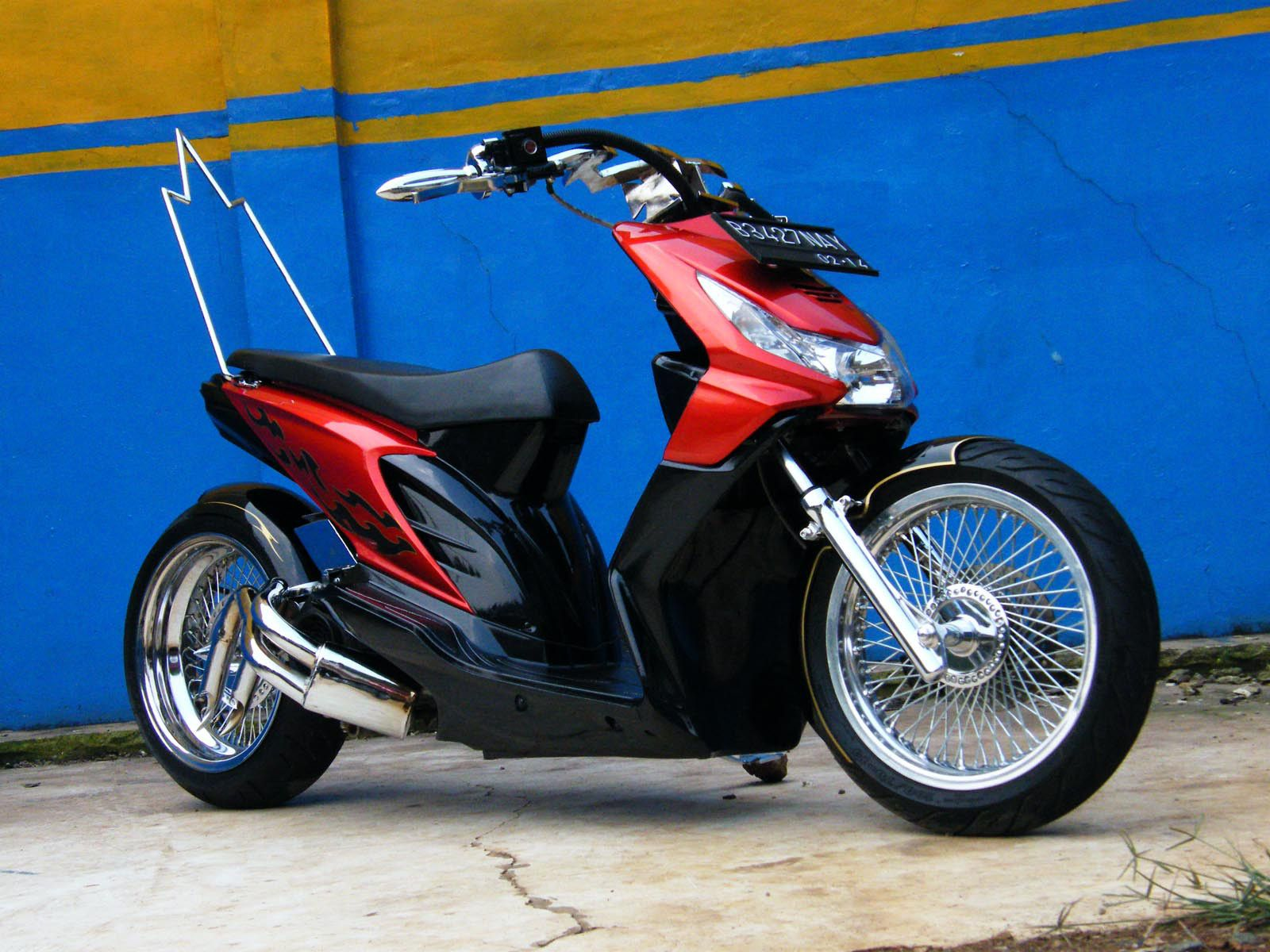 Modifikasi bergaya retro, photo: modifikasi Honda BeAT