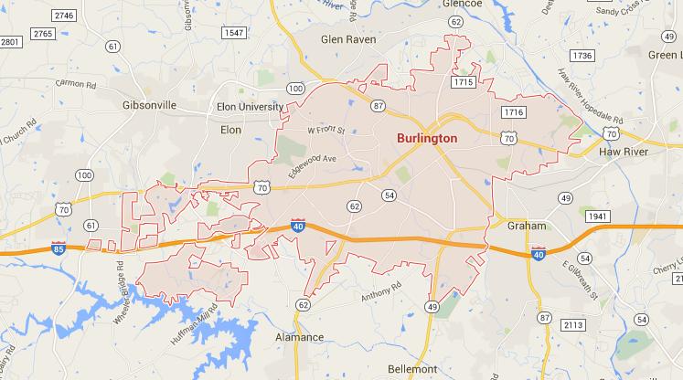 Burlington greenville nc