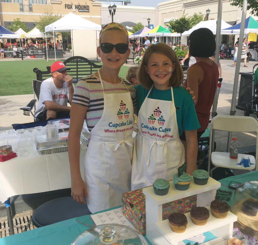 Cupcake Cuties business owners Ashley Mantz and Ella Hingos. (Photo courtesy of John William Pope Foundation)