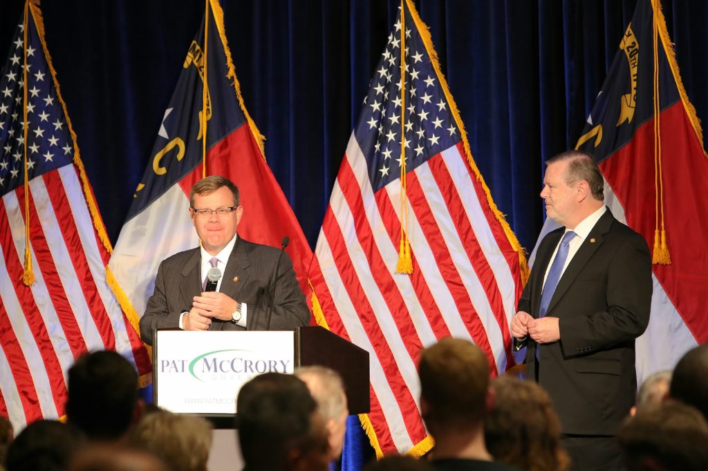House Speaker Tim Moore, at left, and Senate leader Phil Berger. (CJ file photo)