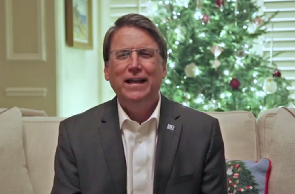 From Office of Gov. Pat McCrory