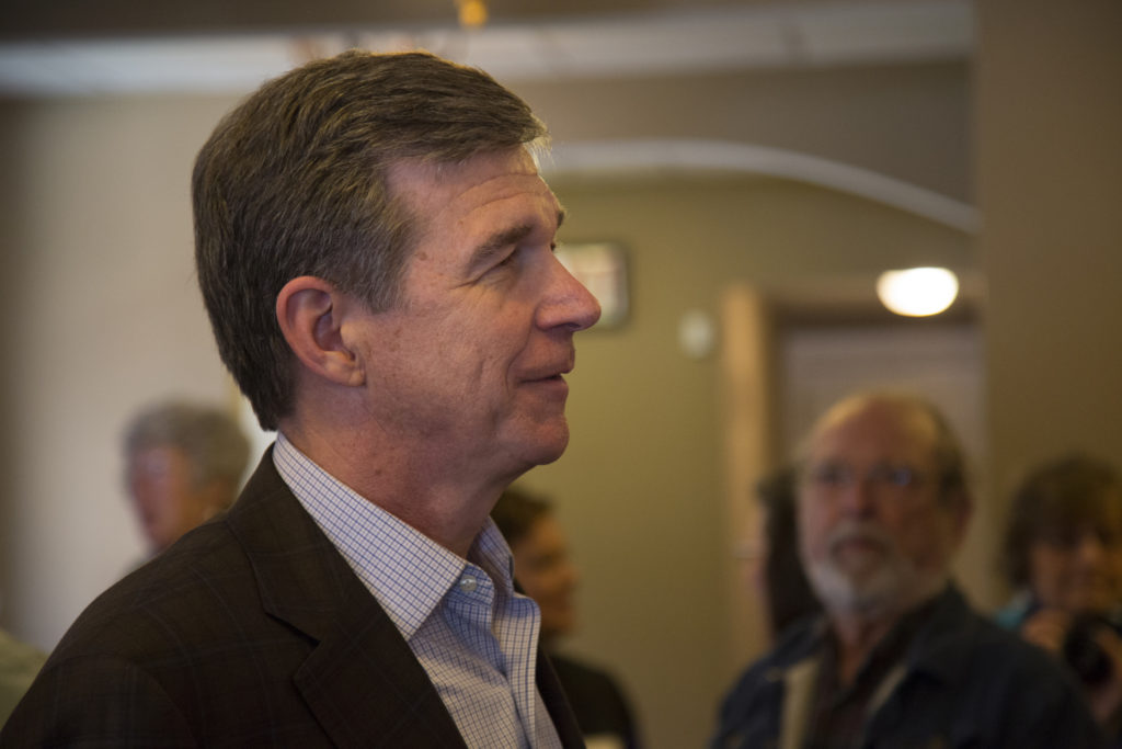Gov-elect Roy Cooper, at an April 9 event. (Photo courtesy of Flickr)
